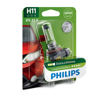 Автолампа Philips 12v H11 55W 12362 LLECO