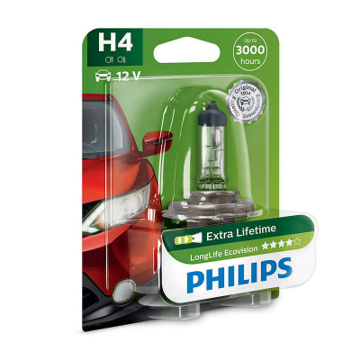 Автолампа Philips 12v H4 60/55W 12342 LLECO